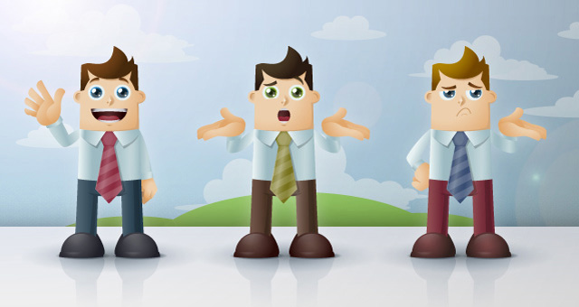 Business Man Cartoon Vector Characters 02