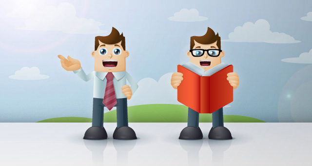 Business Man Cartoon Vector Characters 05
