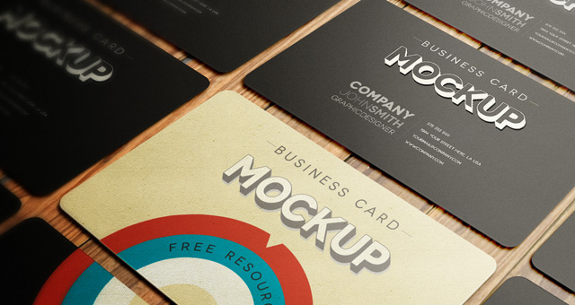 Business card mockup templates reheart Image collections