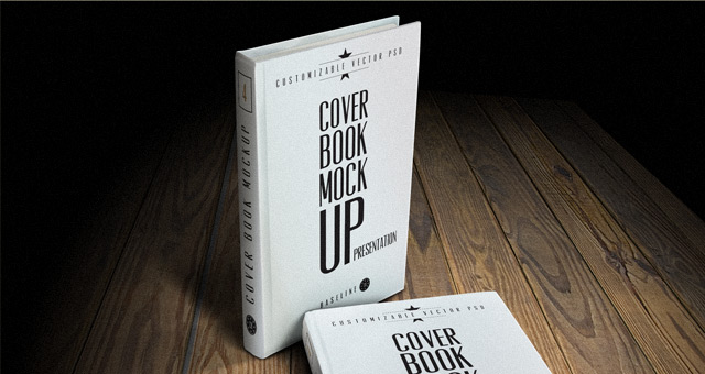 Book Cover Design Psd Free Download : Psd book cover mockup template mock up templates