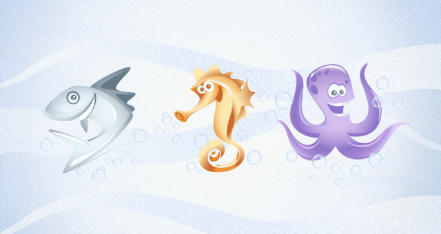 Marine Vector Animals Collection 02