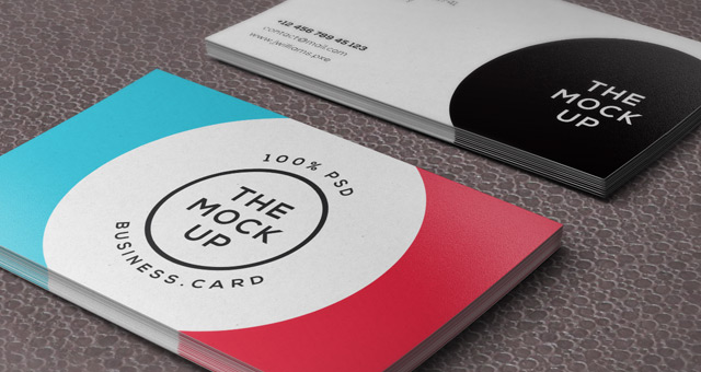 Psd Business Card Mock Up Vol9