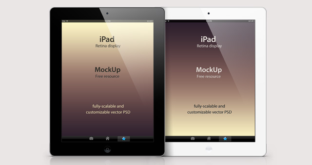 Psd iPad Retina Mockup Template | Psd Mock Up Templates | Pixeden