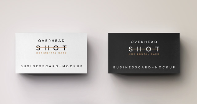 Psd Overhead Shot Business Card | Psd Mock Up Templates ...