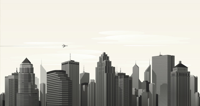 Vector City Skyline Vol1 | Decorative Vectors | Pixeden
