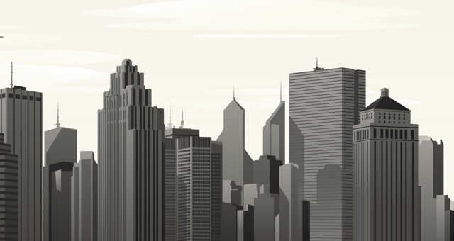 Vector City Skyline Vol1 : Decorative Vectors : Pixeden