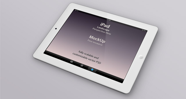Psd iPad Perspective Mockup | Psd Mock Up Templates | Pixeden