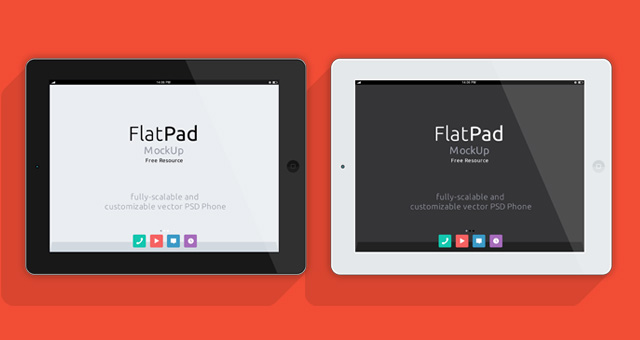 iPad Psd Flat Mockup | Psd Mock Up Templates | Pixeden