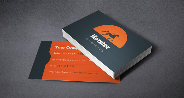 corporate Industrial Business Card template