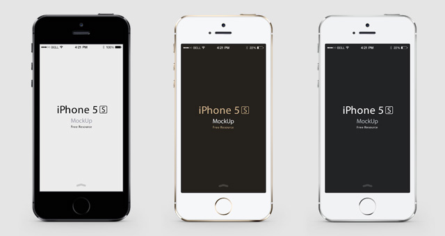 Title White Iphone 5 Psd