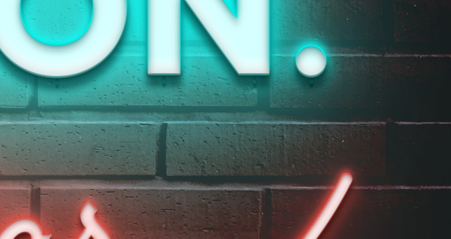 psd neon text effect vol3