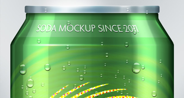 Soda Can PSD Mock-Up Template 02
