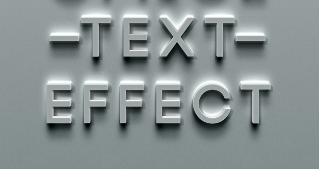 psd urban office text effect