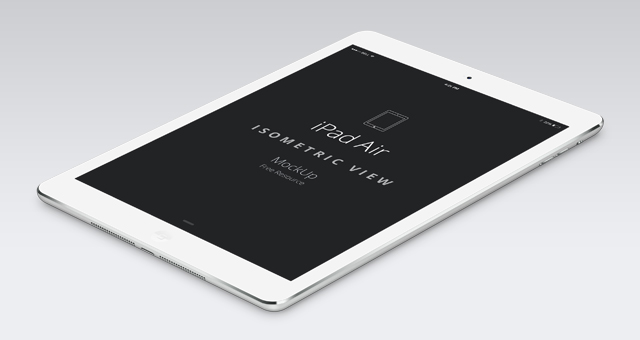 Psd iPad Air Perspective Mockup | Psd Mock Up Templates | Pixeden