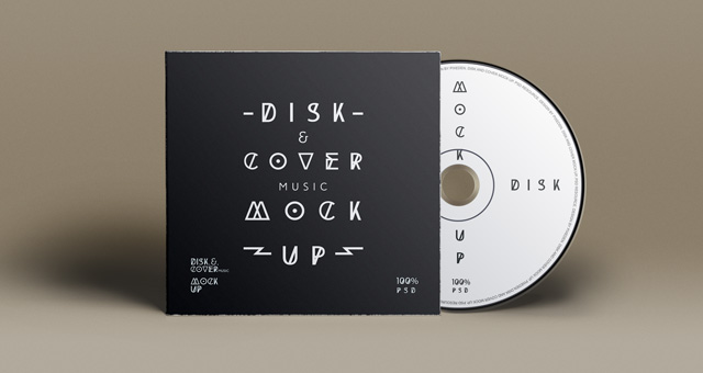 Psd Cd Cover Disk Mock Up  Psd Designs