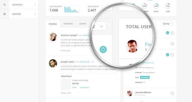 html template for admin panel - html admin panel template