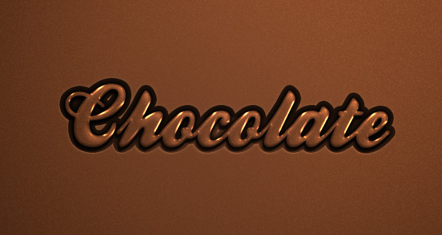 Psd Chocolate Text Effect 02