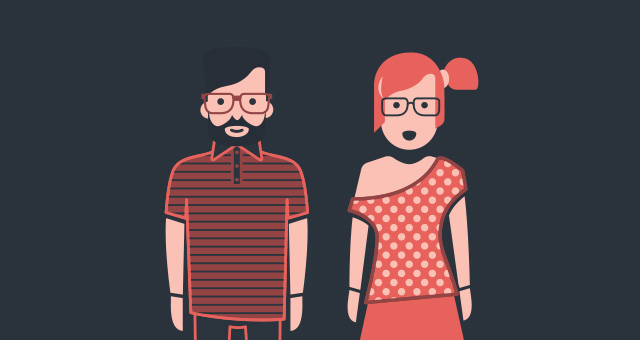 indie hipster vector character set