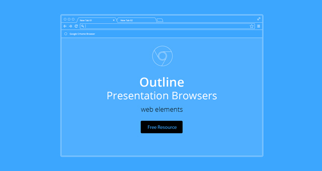Vector Browser Outline Presentation | Psd Web Elements | Pixeden