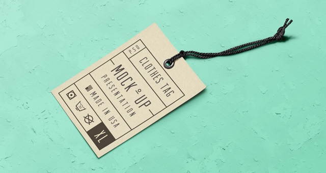 Psd Label Tag Mockup Psd Mock Up Templates Pixeden