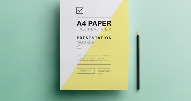 Psd A4 Overhead Paper Mock-Up : Psd Mock Up Templates ...