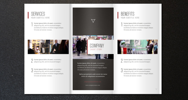 Corporate tri fold brochure template 2 brochure for Company brochure template free download