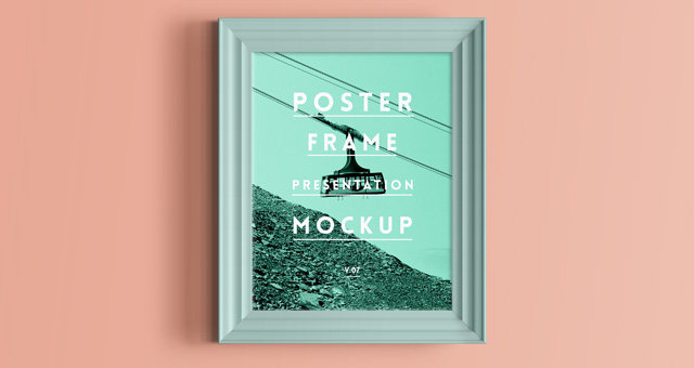 Psd Poster Frame Mockup Vol7 | Psd Mock Up Templates | Pixeden