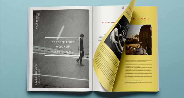 Psd Magazine Mockup View Vol3-2 | Psd Mock Up Templates | Pixeden
