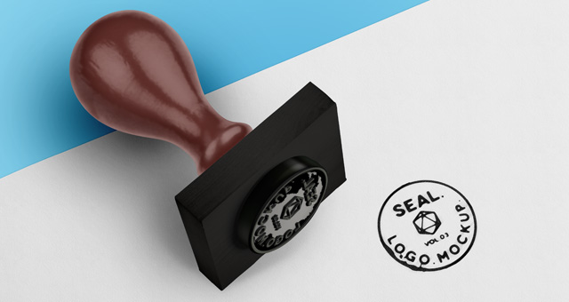 Psd Wood Ink Stamp Seal Mockup Psd Mock Up Templates