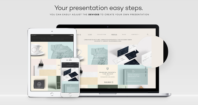 Modern Psd Responsive Showcase Psd Web Elements Pixeden