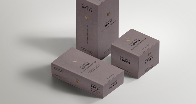 Standard Packaging Box Mockups | Psd Mock Up Templates | Pixeden