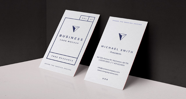 Psd business card mock up vol27 psd mock up templates for Business card presentation template psd