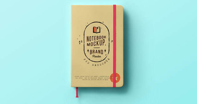Classic Psd Notebook Mockup | Psd Mock Up Templates | Pixeden