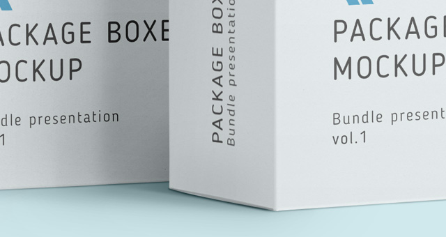 shipping box mockup psd 3