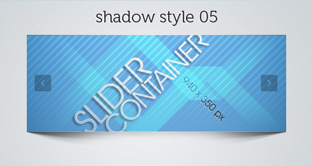Web Slider Shadow 05