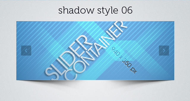 Web Slider Shadow 06