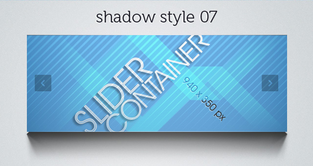 Web Slider Shadow 07