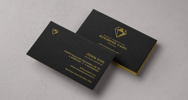 Psd business card mock up vol31 psd mock up templates for Business card presentation template psd