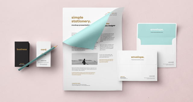 Envelope Letter Psd Mockup Vol2 Psd Mock Up Templates