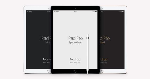 Psd iPad Pro Vector Mockup | Psd Mock Up Templates | Pixeden