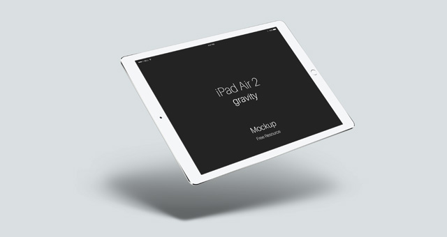 Psd iPad Air 2 Gravity Mockup | Psd Mock Up Templates | Pixeden