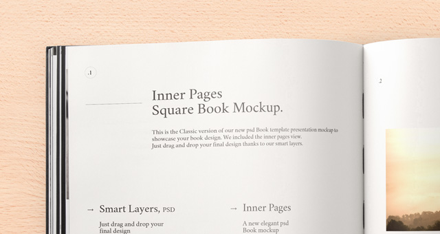 black psd square book mockup