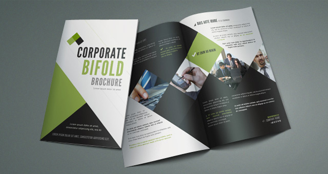 Corporate bi fold brochure template brochure templates for Two fold brochure templates free download