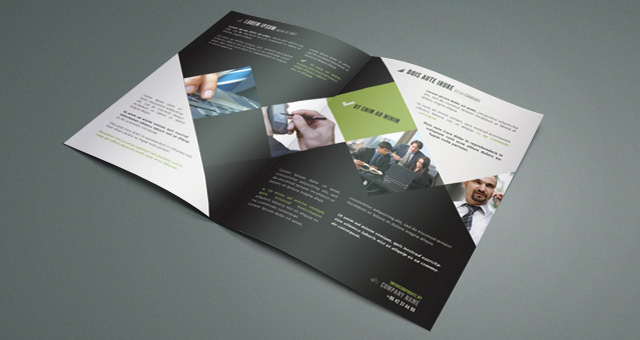 Corporate bi fold brochure template brochure templates for One fold brochure template