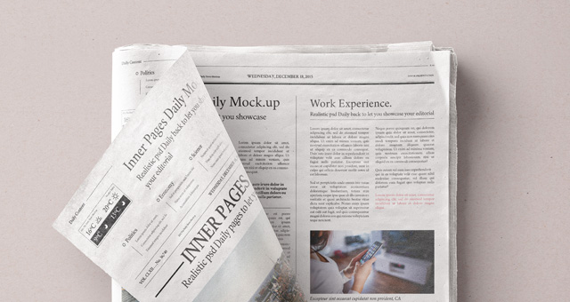 daily newspaper psd mockup vol4