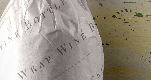 wine bottle psd paper wrap