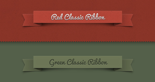 psd ribbon classic set psd web elements pixeden