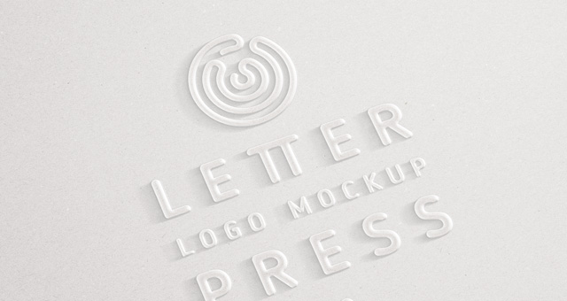 embossed 3d logo mock