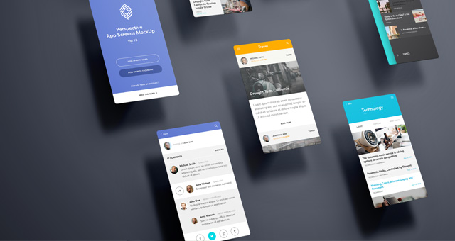 Perspective App Screens MockUp 13   Psd Mock Up Templates