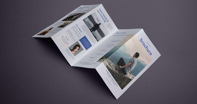 Psd double gate fold brochure vol6 psd mock up templates for Double gate fold brochure template